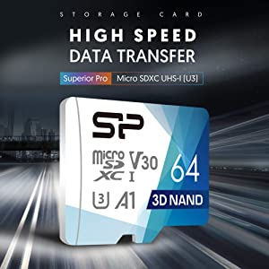 Silicon Power 64GB 10-Pack R/W up to 100/ 80MB/s Superior Pro Micro SDXC UHS-I (U3), V30 4K A1, High Speed MicroSD Card with Adapter (Color: 64GB x10)