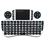 The Original iPazzPort 2.4Ghz RF Mini Wireless Keyboard in WHITE, with Rechargable Li-ion Battery, NO Backlight, 6