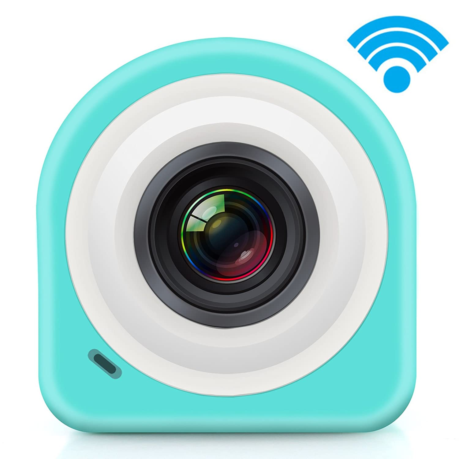 Sumsonic COCA Mini HD 1080p Action Video Camera with WI-FI, App, Smart Remote, Magnetic/Sticky Mounting (Blue)