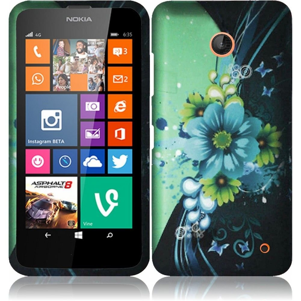 Pleasing-Flower-Design-Hard-Case-Cover-Premium-Protector-for-Nokia-Lumia-635-by-AT-T-Metro-PCS-T-Mobile-with-Free-Gift-Reliable-Accessory-Pen