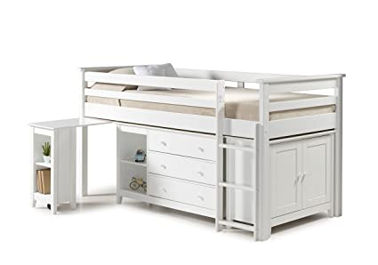 Birlea Furniture Midi Sleep Station Ivory Finish, Pine(Multi-box)