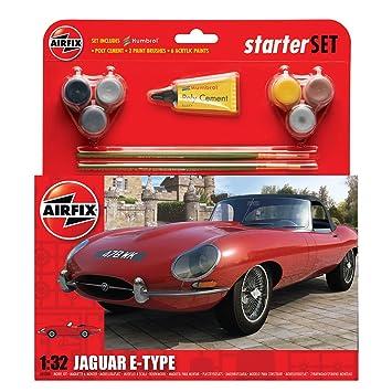 Airfix - A55200 - Maquette - Starter Set Med E Type Jaguar
