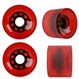 KSS Sliding 82A Stone Ground Longboard Wheels (Set of 4), Red, 70mm (Color: Red, Tamaño: 70mm)