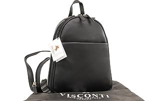Sac à dos de ville en cuir signé Visconti - 18052   Commentaires en ligne plus informations
