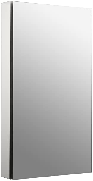 Kohler K-2918-PG-SAA Catalan Mirrored Cabinet with 107° Hinge, Satin Anodized Aluminum