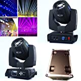 2Pcs/lot With Flight Case DMX 16/20 Channels 7R Sharpy Beam 230W Moving Head Light Black For Birthday DJ Disco KTV Bar Event Party Show(Pack of 2)