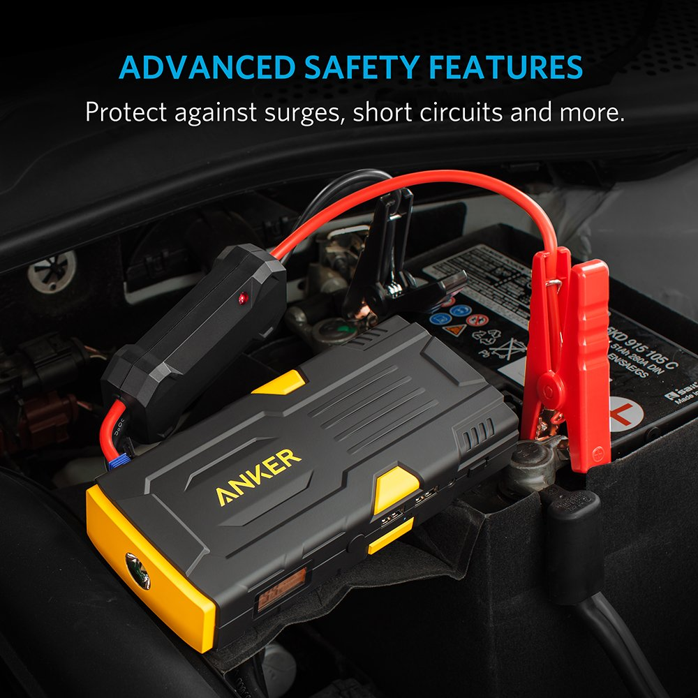 Anker Powercore Jump Starter 600mah Short Circuit Protection Car 12v 24v Truck 600 Never Get Stranded With A Dead And Phone Battery Again