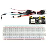 DZS Elec 3 in 1 Breadboard Starter Learning Kit DIY Electronic Components 830 Tie-Point Breadboard, Power Module, Jumper Wire for Arduino, Raspberry Pi etc. Project (67pcs)