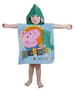 Carácter mundial Peppa Pig George rugir a Poncho con capucha, multicolor   revisión y más noticias