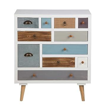 Kommode, Sideboard, Anrichte, Highboard, TV Board, Flurkommode, Schlafzimmerkommode, Lowboard, weiß, braun, grau, blau, 11 Schubladen
