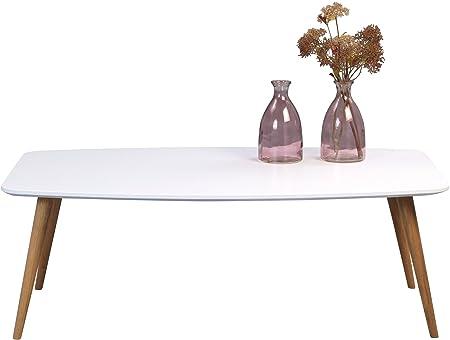 HomeTrends4You 245826 Couchtisch , Holz, weiß matt / wildeiche, 120 x 70 x 43 cm