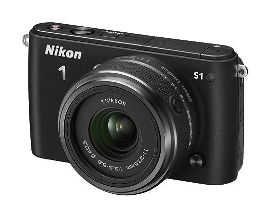 Nikon 1 S1 Appareil Photo Numérique Hybride 10.1 Mpix + Optique 30/110mm Noir