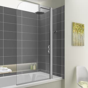 1000mm Bath Shower Glass Bathroom Screen  iBath       review and more information