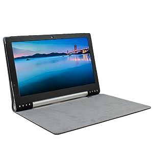 IVSO Slim-Book Funda de Cuero con Soporte para Lenovo YOGA 2 Pro 13.3-Inch Tablet (Negro)  Electrónica Comentarios