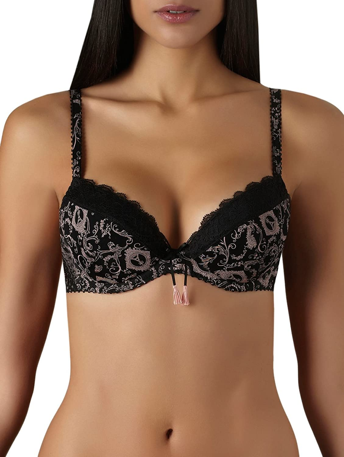 Aubade - Idylle Parisienne - Push-Up-BH - Schwarz