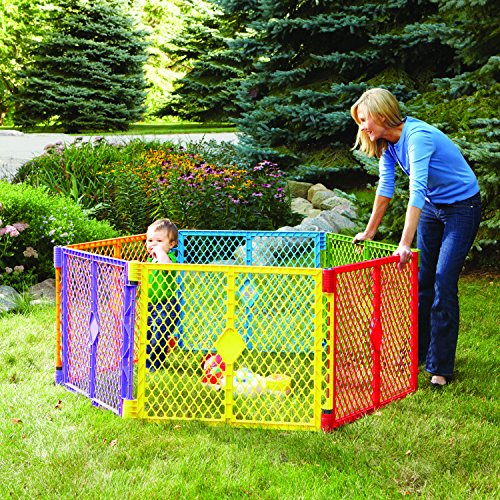 North States Industries Superyard Play Yard, Colorplay, 6 Panel