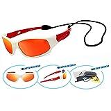 VATTER TR90 Unbreakable Polarized Sport Sunglasses For Kids Boys Girls Youth 816whitered