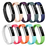 AK Fitbit Alta Bands/Fitbit Alta HR bands, Replacement Fitbit Bands for Fitbit Alta/Alta HR(10colors, Small)
