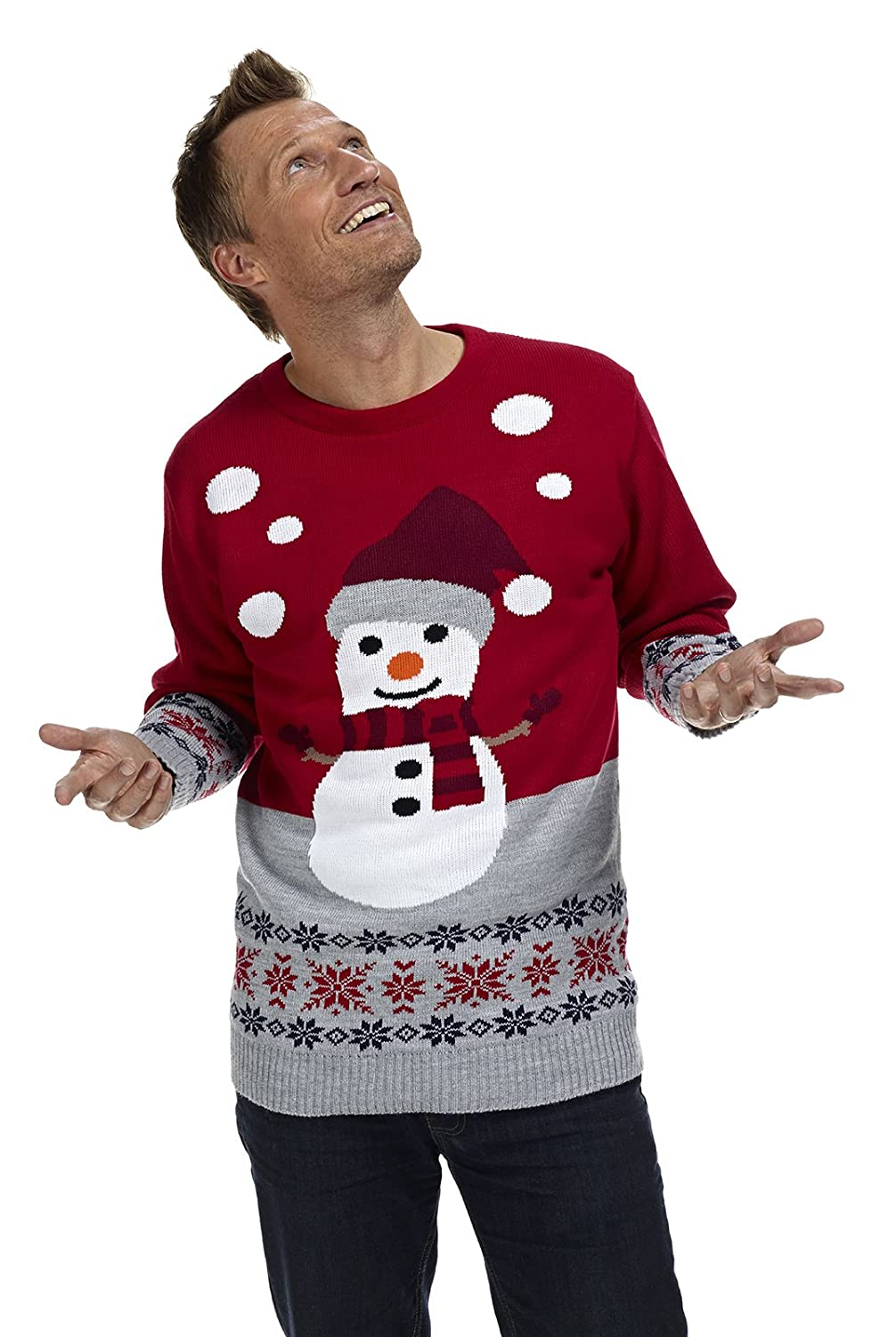 Unisex Adults Snowman Xmas Jumper