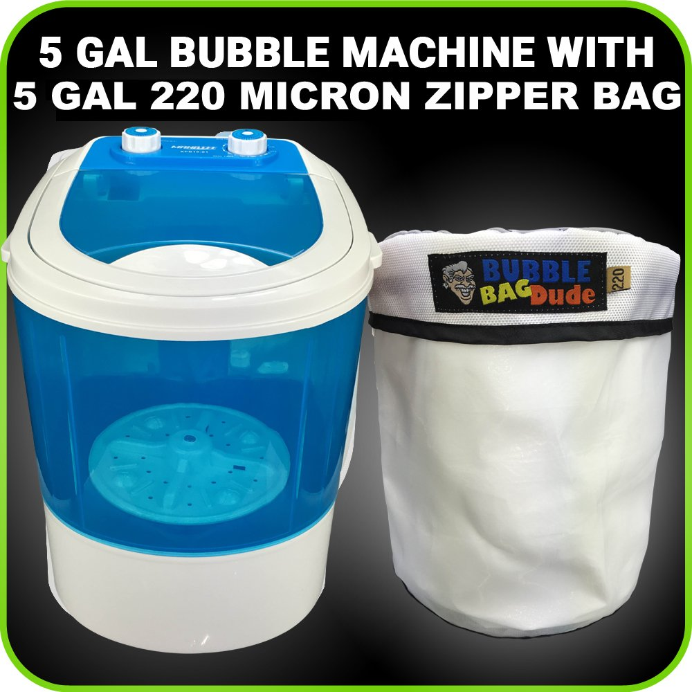 Bubble Machine 6 Gallon Small Mini Portable Compact Washer Extracting Washing Machine with 220 Micron Zipper Bag
