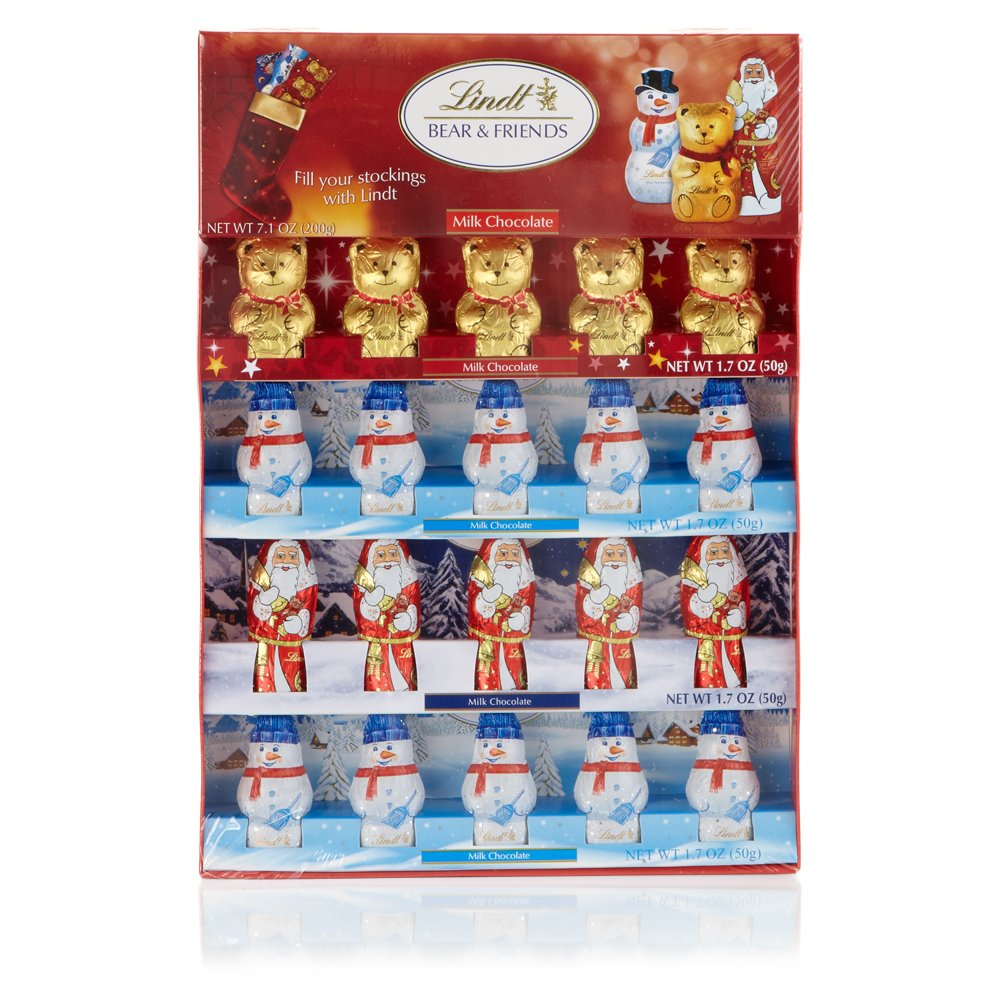 Lindt Chocolate Holiday Chocolate Figures Novelty Pack, 6.8 Ounce