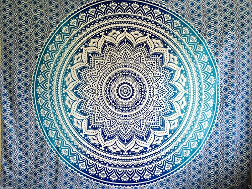 Couvre lit indien hippie gypsy style boh me d coration de for Decoration murale mandala