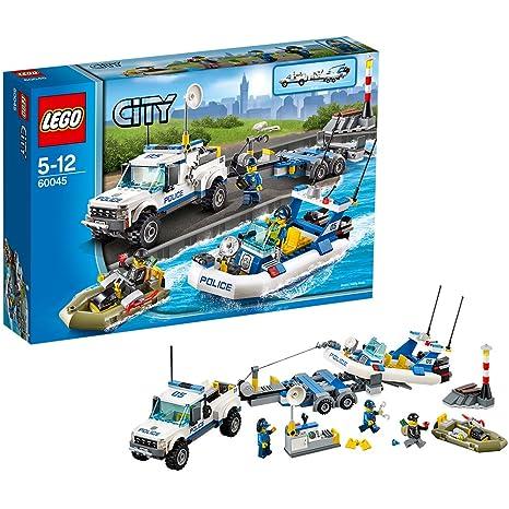 Lego City - 60045 - Jeu De Construction - L'intervention Du Bâteau De Police