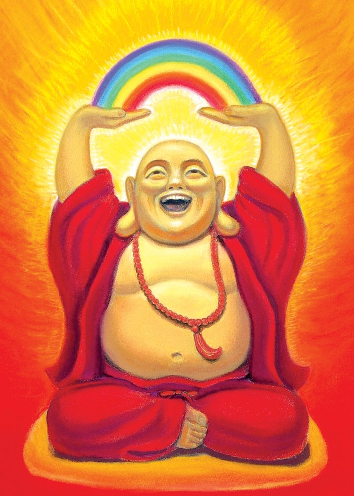 Laughing Buddha Greeting Card