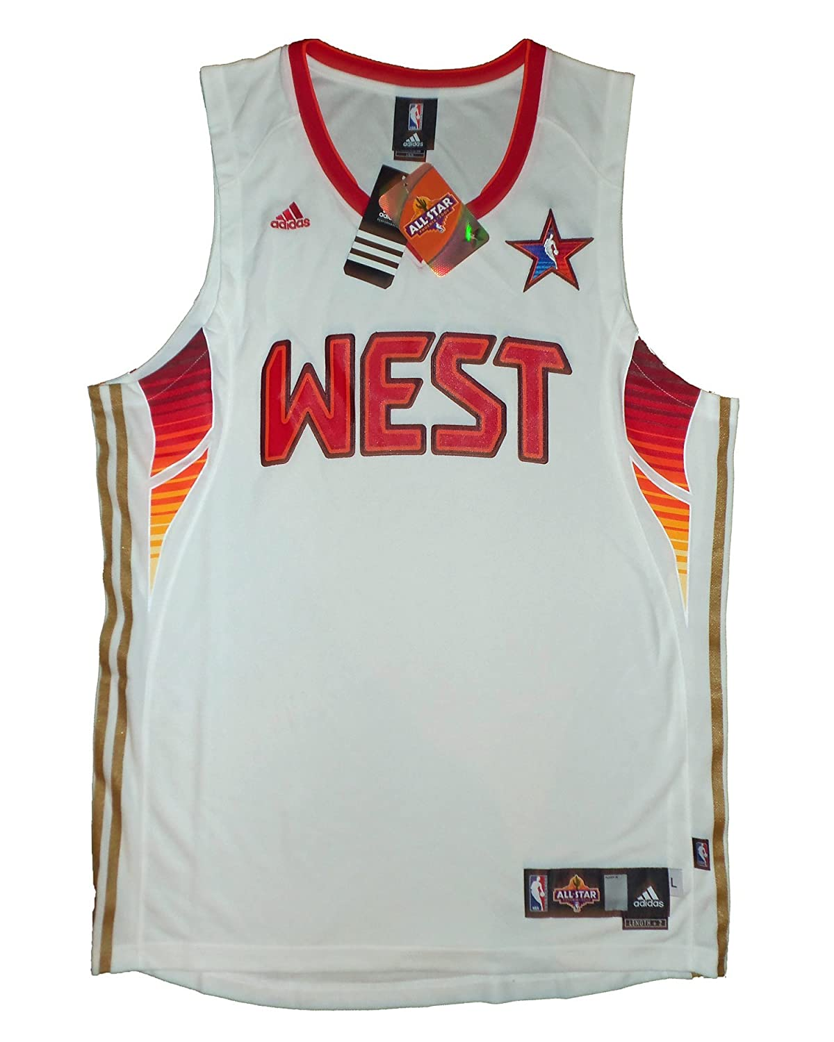 Adidas NBA Swingman All Star West Phoenix 2009 Basketball Jersey White 2XL +2