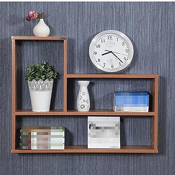 L&Y Mobili da cucina Scaffali Pareti Lattice libreria scaffale decorazione della parete attaccatura di parete sospensione mensola partizione Rack Scaffale ( Colore : Marrone )