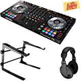 Pioneer DDJ-SZ2 Flagship 4-Channel Controller for Serato DJ Bundle with Stand, Headphones, and Austin Bazaar Polishing Cloth (Color: Bundle w/ Stand, Tamaño: DDJ-SZ2)