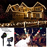 Christmas Motion Laser Lights Projector Pattern Outdoor, Holiday Decorations Lighting Landscape Waterproof for Parties, Garden Xmas Decorative Lights Beam Red and Green Stars Moving (Color: Green&red Stars)
