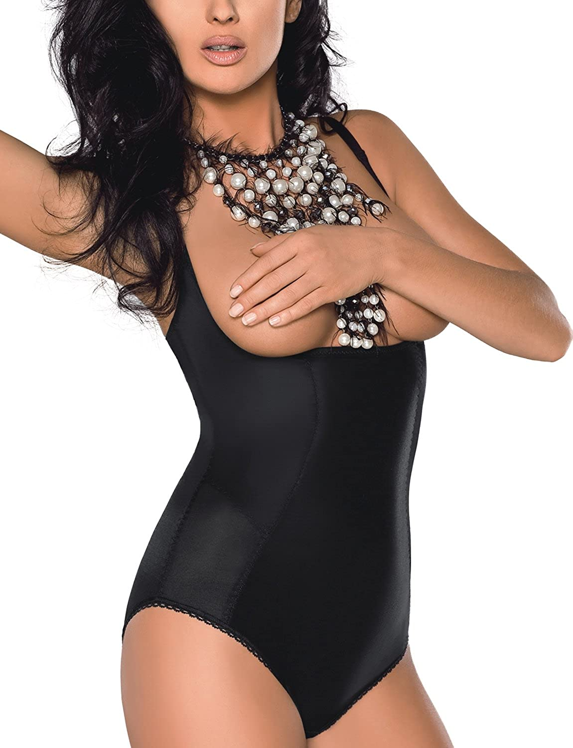 Gorsenia K148 Sanremo Shapewear Figurformender Body, Regulierbare Träger, Top Qualität, Made In EU