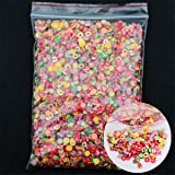 10000pcs/pack Nail Art Stickers 3D Nail Art Fruit Flower Fimo Slices Polymer Clay DIY Beauty Nail Slice Decoration (Fruit) (Color: Fruit)