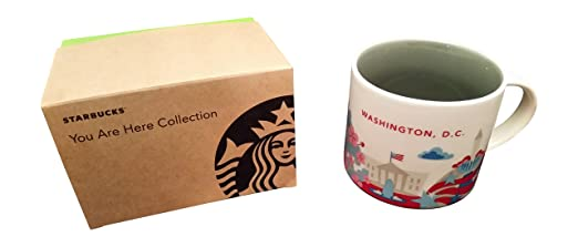 Starbucks Washington D.C. You Are Here Collection Ceramic Coffee Mug (14 Ounce with Gift Box)