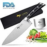Chef Knife - MAD SHARK Pro Kitchen Knife 8 Inch Chef's Knife, Best Quality German High Carbon Stainless Steel Knife with Ergonomic Handle, Ultra Sharp