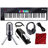 Novation Launchkey MK2 61-Key USB Keyboard Controller for Ableton Live with Microphone & Headphones Deluxe Bundle