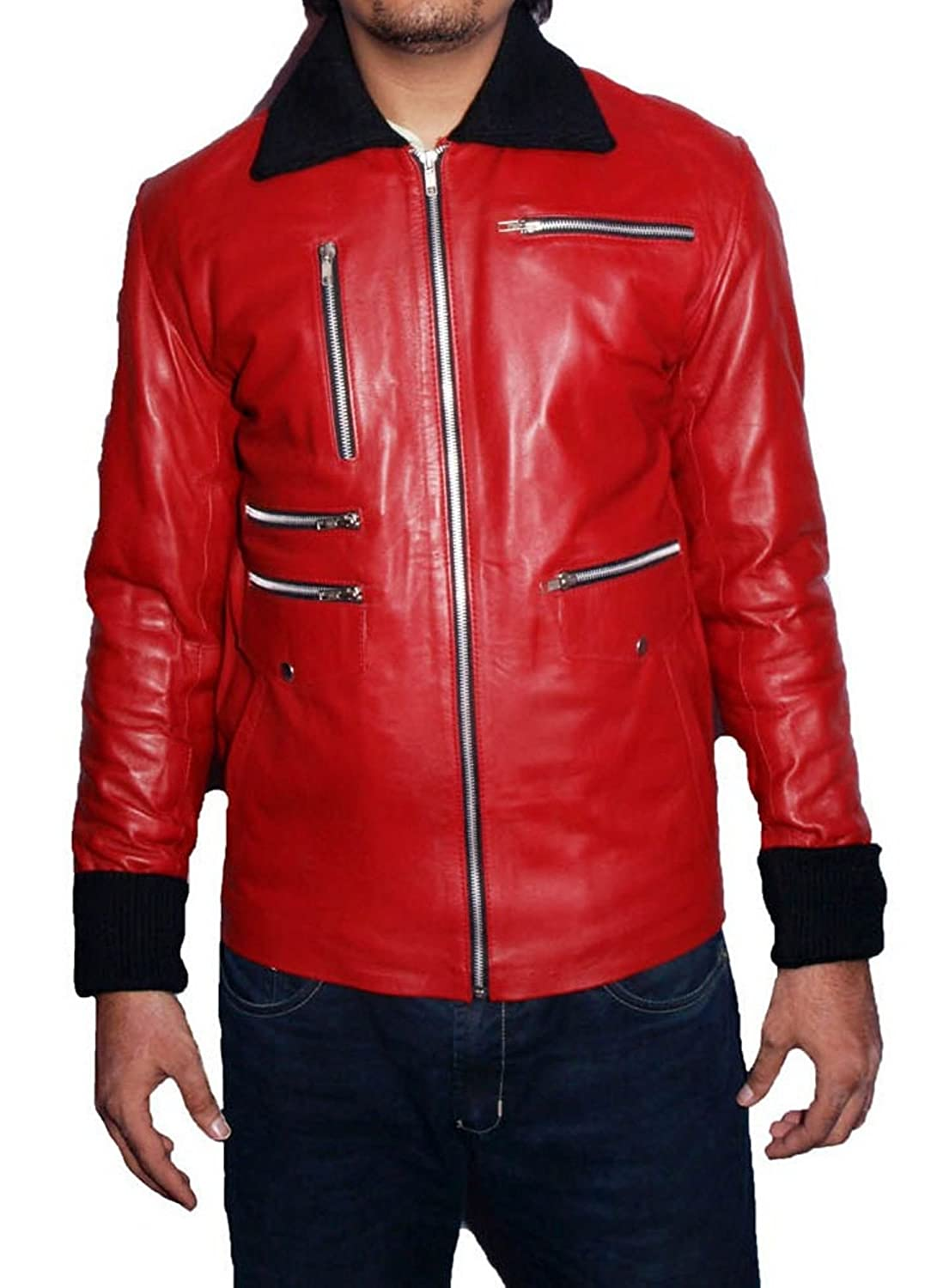 Men's Owens Sheep Red Leather Jacket