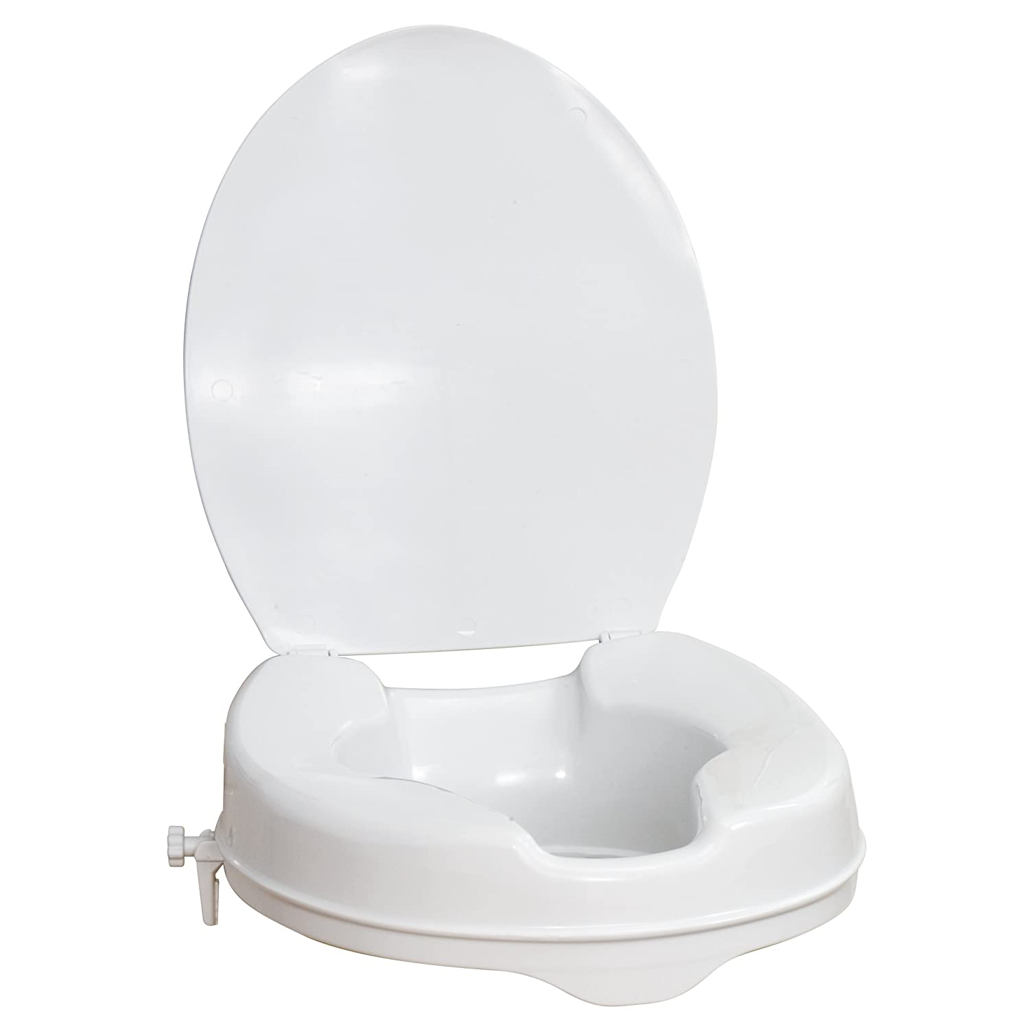 Aquasense Raised Toilet Seat With Lid White 2 Inches