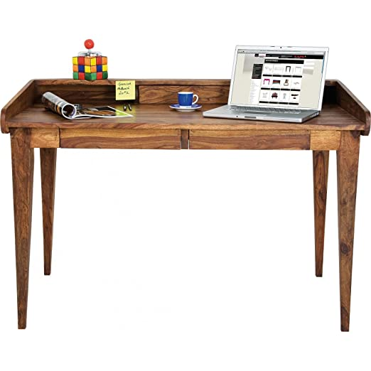 Kare design - Bureau authentico lady Secrétaire, bois, marron, 118 x 70 cm