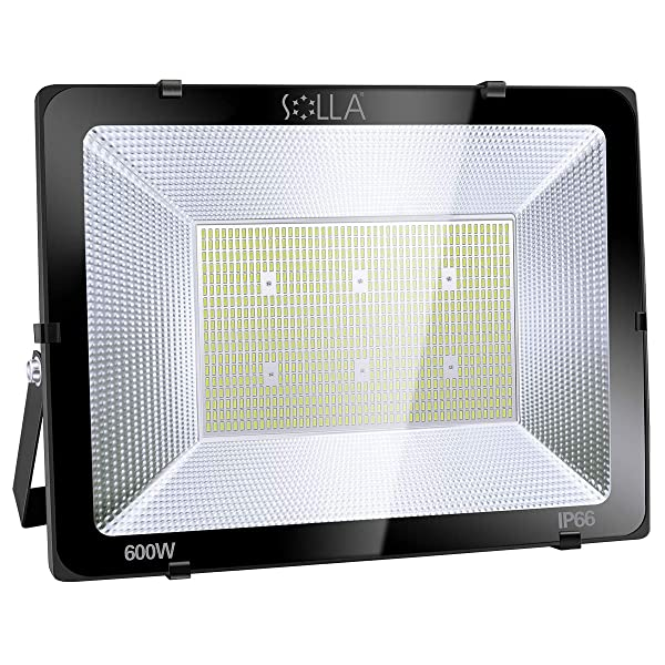 SOLLA 600W LED Flood Light, IP66 Waterproof, 48000lm, 3300W Equivalent, Super Bright Security Light, 6000K Daylight White, Exterior Lighting Outside Floodlight LED Stadium Light Spotlight Wall Light (Color: 6000k Daylight White, Tamaño: 600w)