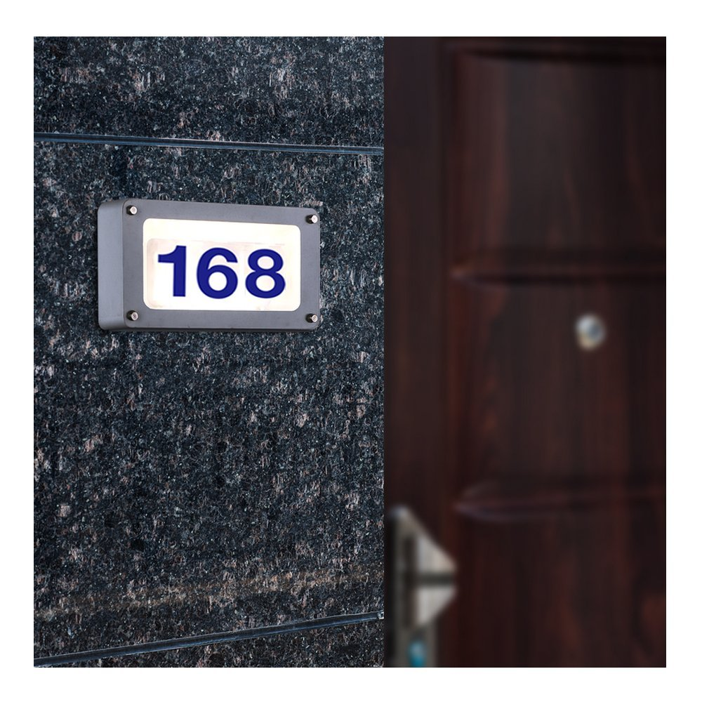 bright durable led address numbers address signs custom. Black Bedroom Furniture Sets. Home Design Ideas