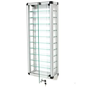 Aluminium Tube Frame Glass Display Cabinet       Customer review and more news