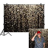 Allenjoy 10x8ft Gold Bokeh Spots Backdrop(Not Glitter) for Selfie Birthday Party Pictures Photo Booth Shoot Graduation Prom Dance Decor Wedding Astract Shining Dot Studio Props Photography Background (Color: bokeh gold, Tamaño: 10'x8' Durable Fabric)