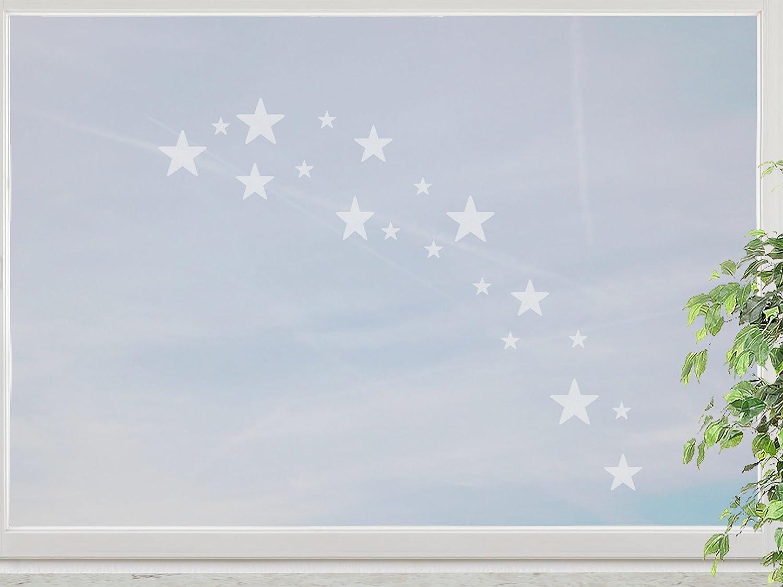wandfabrik – Fenstersticker 19 Sterne 2-4cm Motiv (St412) – frosty – 798 – (Xt) günstig bestellen