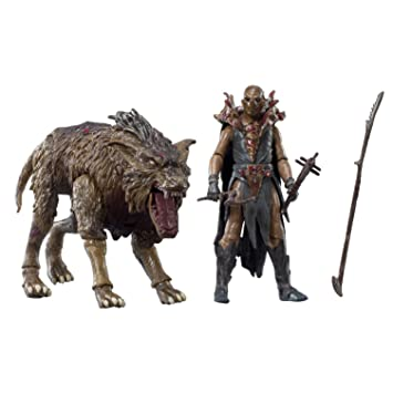 The Hobbit - BD16021 - Pack de 2 Figurine Orque sur son Ouargue