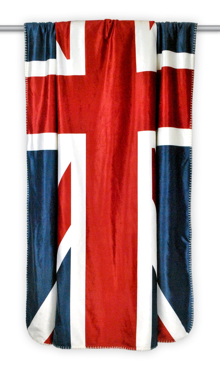 Reversible Ultra Plush Sherpa Union Jack Throw Blanket 50 inches x 60 inches
