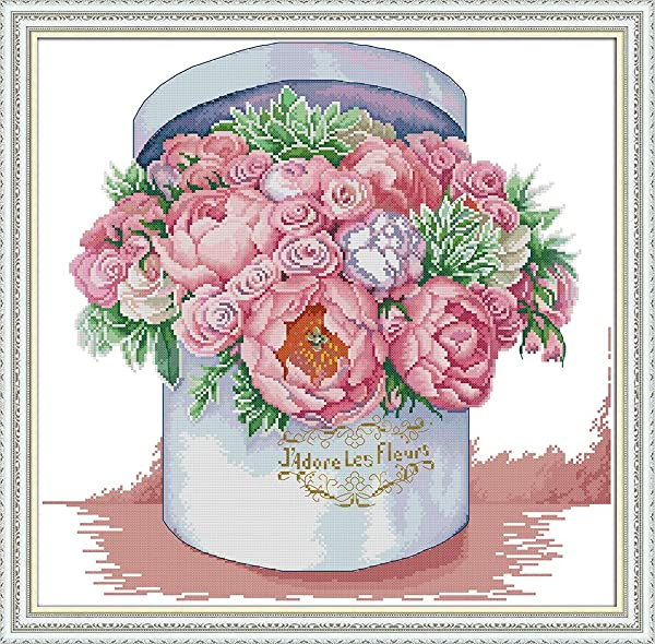 Full Range of Embroidery Starter Kits Stamped Cross Stitch Kits Beginners for DIY Embroidery (Multiple Pattern Designs)-Send You Aromatic (Color: Send you aromatic)