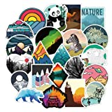 Vsco Cute Stickers for Laptops, Travel Scenery Sticker for Hydro Flask Car Bumper Bicycle Motorcycle Laptop Skateboard Snowboard Water Bottle, Nature Stickers Gift Choice, 100Pcs Outdoor Landscape (Color: Outdoor Scenery 100pcs)