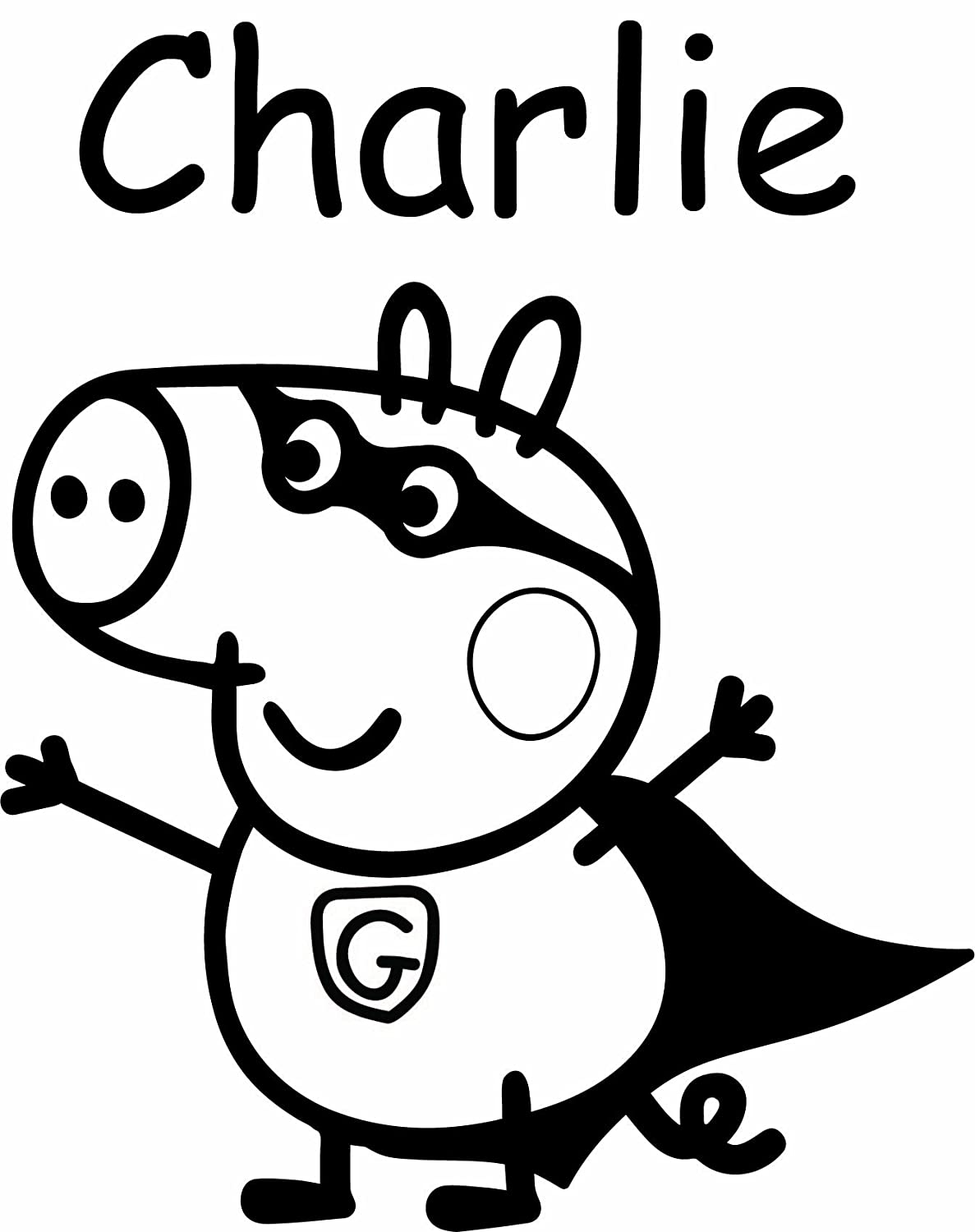 Free coloring pages of le peppa